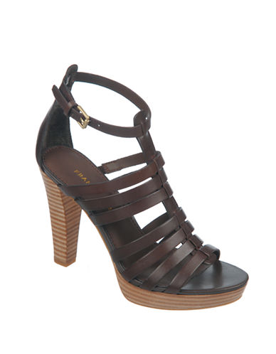 FRANCO SARTO Bauble High-Heel Leather Sandals