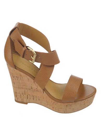FRANCO SARTO Sitar Leather Wedge Sandals