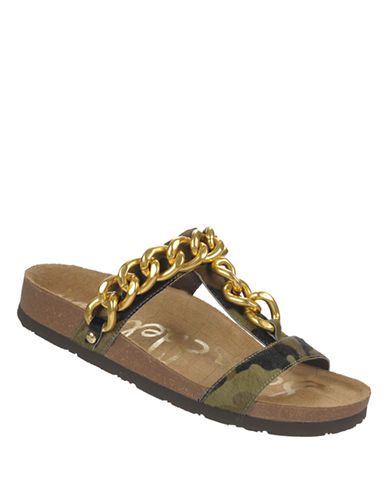 SAM EDELMANCamouflage Printed Sandals