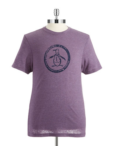 ORIGINAL PENGUIN Tri-Blend Distressed Circle Logo T-Shirt