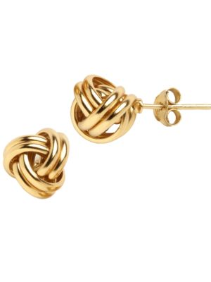 18 K Gold Over Sterling Silver Knot Stud Earrings by Lord & Taylor