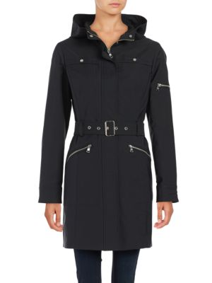 Zip Up Hooded Trench Coat by Vince Camuto