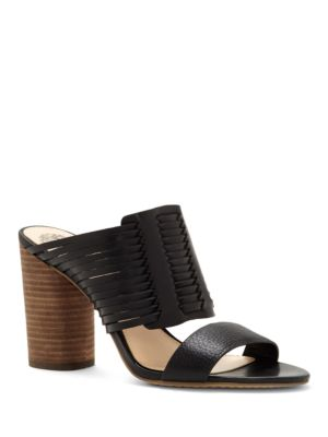 Astar Strappy Leather Slides by Vince Camuto
