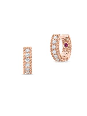 Symphony Diamond & Ruby Hoops by Roberto Coin