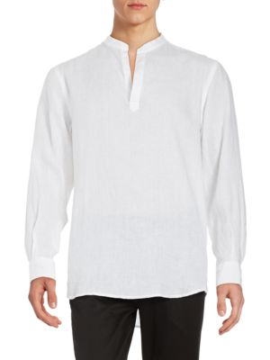 Linen Pullover Shirt by Perry Ellis