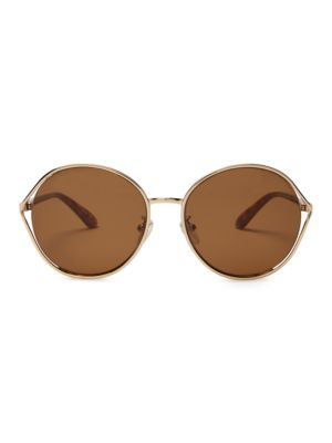 58 Mm Blythe Semi Rimless Round Sunglasses by Toms