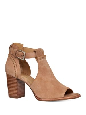 Cameron Cutout Suede Open Toe Booties by Jack Rogers