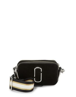 Suede And Pave Chain Snapshot Crossbody by Marc Jacobs