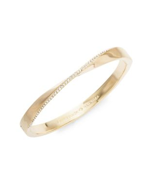 Pavé Crystal Twisted Hinged Bangle Bracelet by Kate Spade New York