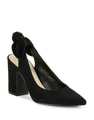Laci Suede Slingback Pumps by 424 Fifth