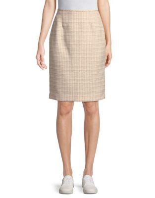 Textured Knee Length Skirt by Calvin Klein