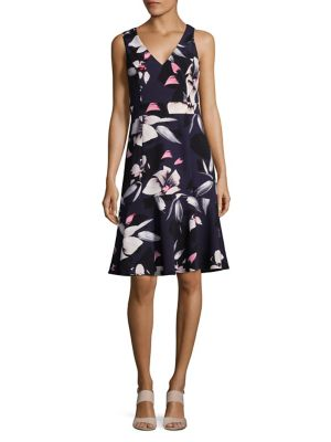 Floral Print Sheath Dress by Vince Camuto