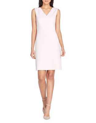 Sleeveless V Neck Sheath Dress by Tahari Arthur S. Levine