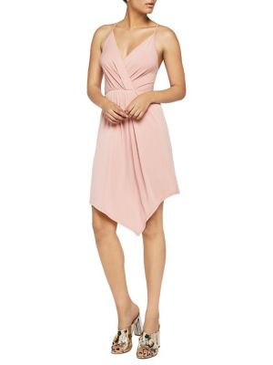 Sleeveless Asymmetrical Surplice Dress by Bcbgeneration