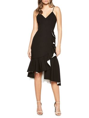 Kiki Bonded Ruffled Sheath Dress by Bardot