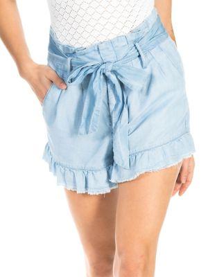 Ruffle Paper Bag Shorts by Banjara