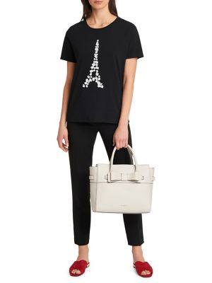 Floral Applique Eiffel Tower Tee by Karl Lagerfeld Paris
