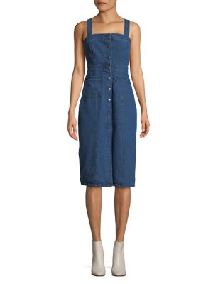 Denim Sleeveless Pinafore Dress by Bb Dakota