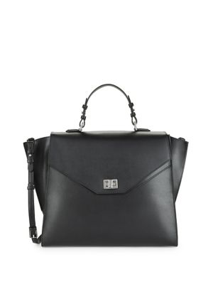 Clementine Leather Satchel by Calvin Klein