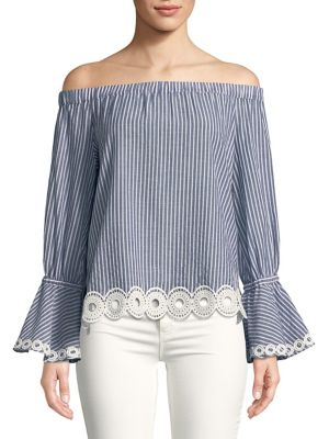 Delphine Off The Shoulder Blouse by T Tahari