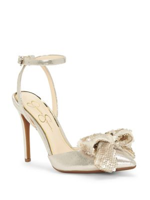 Pearlanna Sequin Bow Sandals by Jessica Simpson