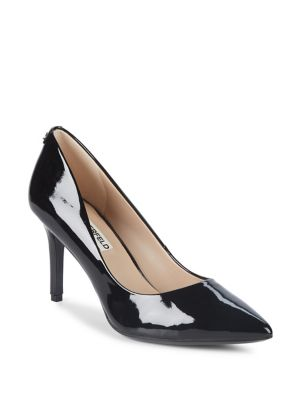 Royale Patent Leather Pointy Pumps by Karl Lagerfeld Paris