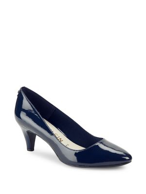 Rosalie Patent Leather Pumps by Anne Klein