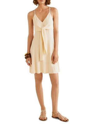 Sleeveless Tie Front Dress by Mango