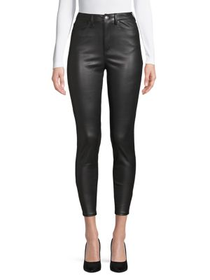 Skinny Faux Leather Trousers by Free People