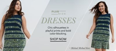Plus-size Michael Michael Kors colorblock dress at lordandtaylor.com