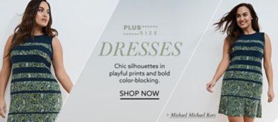 Plus-size Michael Michael Kors colorblock dress at lordandtaylor.com