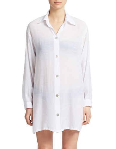 Shop J Valdi online and buy J Valdi Swim Tunic with Half Button Placket dress online