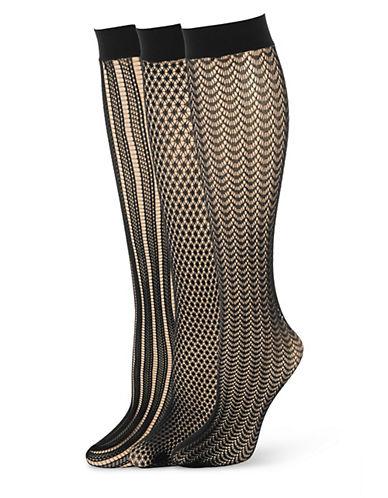 CALVIN KLEINThree Pack Mesh Knee High Socks