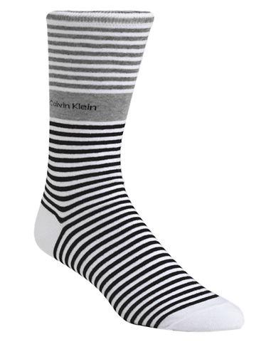 CALVIN KLEINBold Striped Cuff Socks