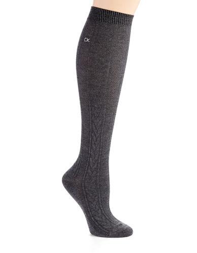 CALVIN KLEINCable Knit Knee High Socks