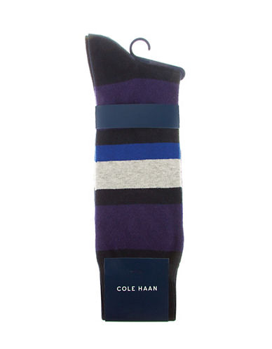 COLE HAAN Colorblocked Crew Socks