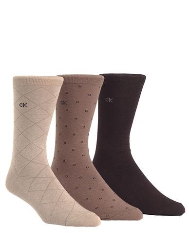 CALVIN KLEINThree-Pack Dress Socks