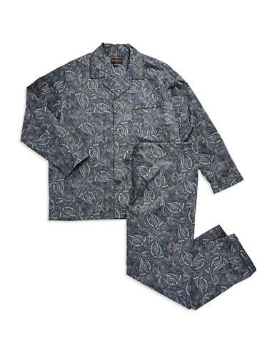 BLACK BROWN 1826Patterned Two Piece Pajama Set