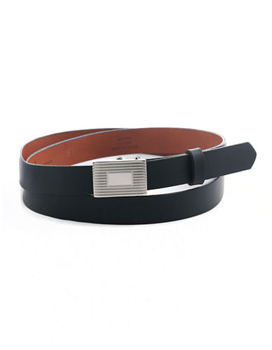 BOSCA Reversible Skinny Leather Belt