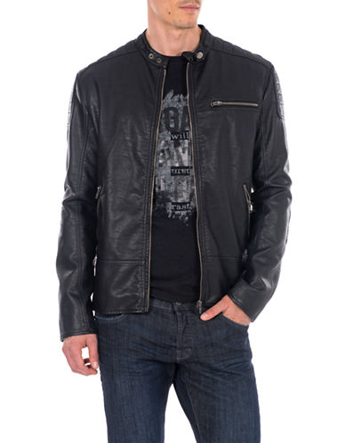 WILLIAM RAST Patent Leather Moto Jacket