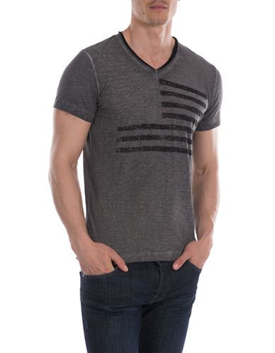 WILLIAM RAST Flag Slub Jersey Tee