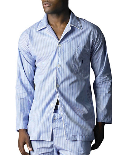 POLO RALPH LAURENAndrew Striped Woven Pajama Top