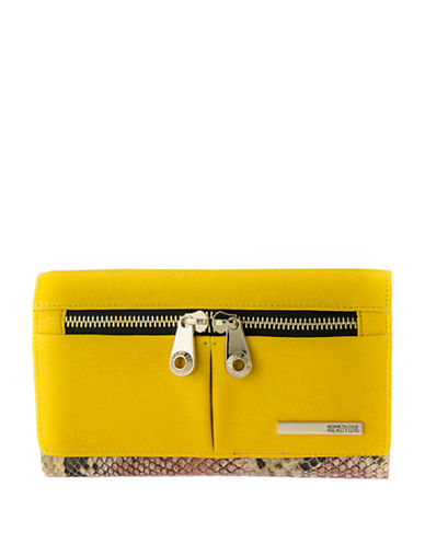 Kenneth Cole Reaction Wooster Street Leather Flap Clutch