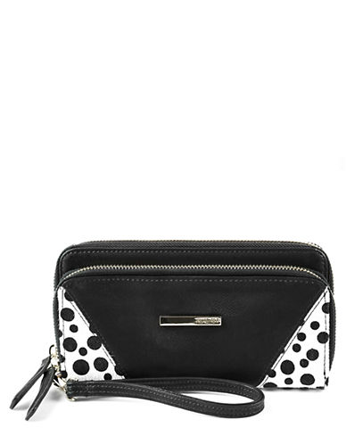 KENNETH COLE REACTION Leather Double ZA Clutch