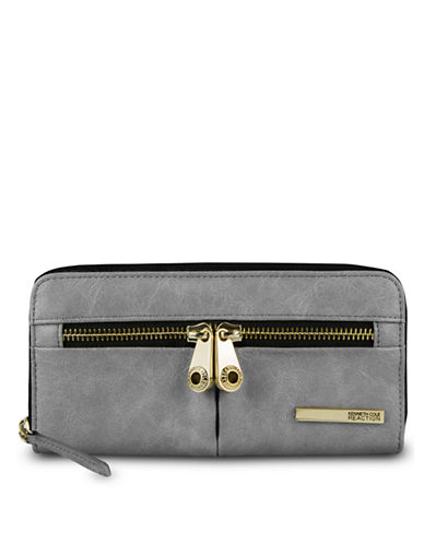 KENNETH COLE REACTION Wooster Street PVC Zip Around Clutch