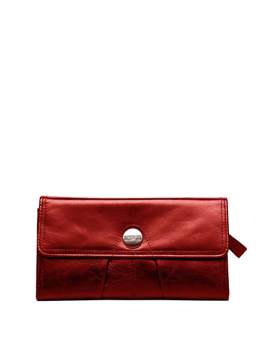 KENNETH COLE REACTION Button Up Flap Clutch Wallet