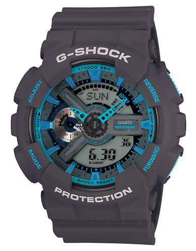 G-SHOCK BABY G Men's Analog-Digital Gray Watch with Blue Accents