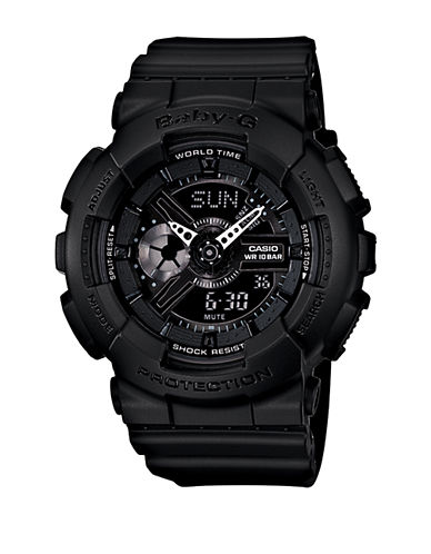 G-SHOCK BABY G Ladies' Baby-G Matte Black Round Watch