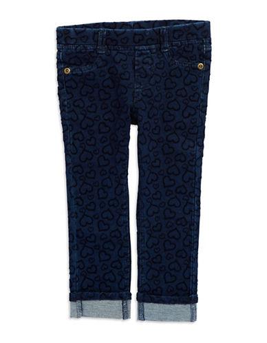 FLAPDOODLESGirls 2-6x Embroidered Heart Denim Pants