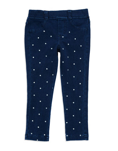 FLAPDOODLESGirls 2-6x Polka Dot Denim Pants